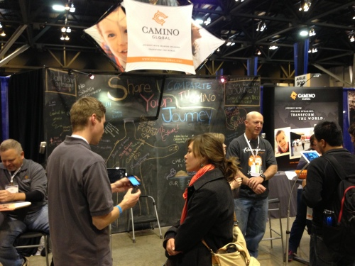 Connecting with students @ the Camino booth, Urbana 2012